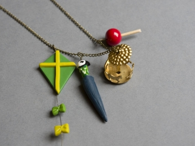 Collier Mary Poppins pâte polymère