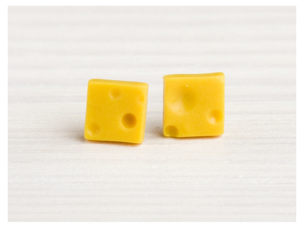 Boucle d/'oreille fromage